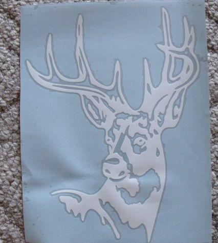 Buck Deer Head hunting vinyl window sticker/decal/graphics