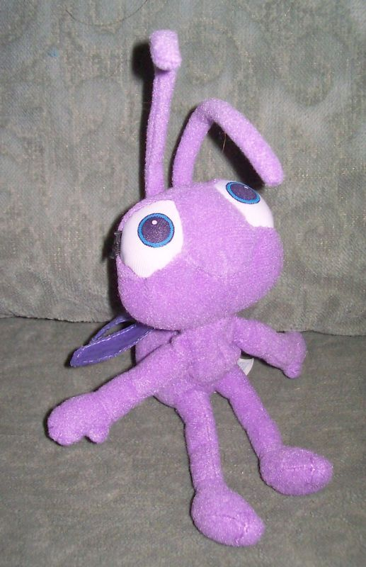 Disney A Bugs Life Purple Girl Ant Stuffed Plush Animal Play Toy 7