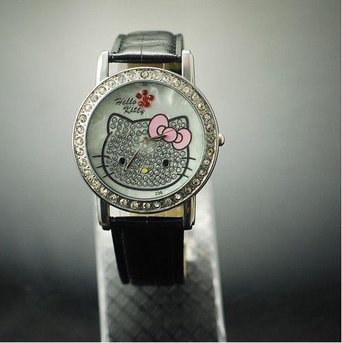 New Big dial lovely hellokitty Girls Wrist Watch Quartz Fashion lovely