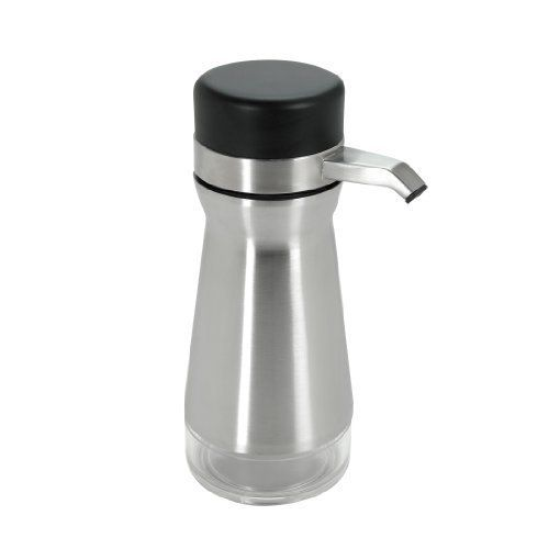 OXO Good Grips Big Button Soap or Lotion Dispenser, Stainless/Black