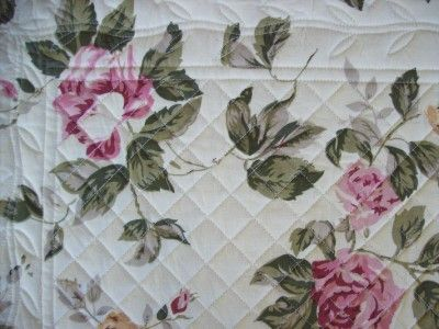 Sage Rose Quilted Table Runner