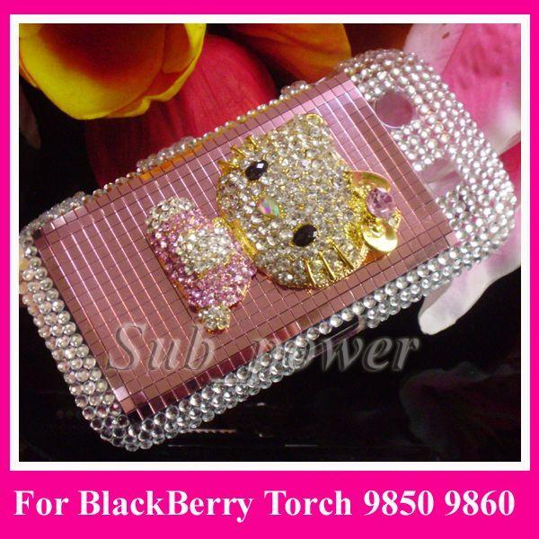 hello kitty Bling Case cover for BlackBerry Torch 9850 9860 B1