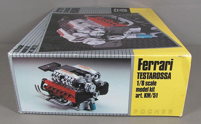 POCHER Ferrari Testarossa Engine 1/8 Scale Model Kit Art. KM/51
