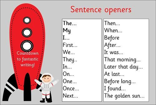 Primary Teaching Resources Sentence openers KS1 mat
